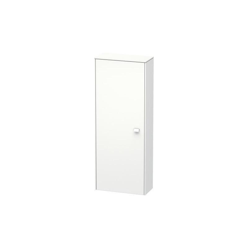 Armario semi alto Brioso 133,0x52,0x24,0 cm, 1 puerta, abatible a la izquierda, Color frente/cuerpo: Grafito mate decorativo, mango Grafito mate