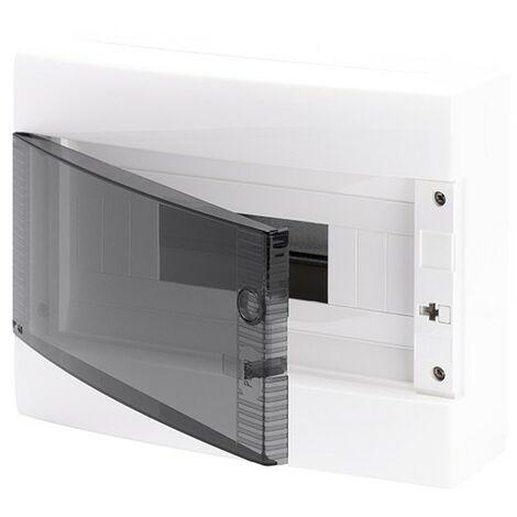 Armario superficie 12 módulos puerta transparente, libre de halógenos GW40045 de Gewiss