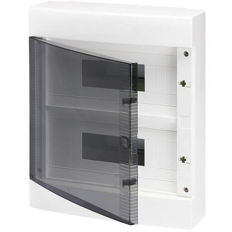 Armario superficie 24 módulos puerta transparente, libre de halógenos GW40047 de Gewiss
