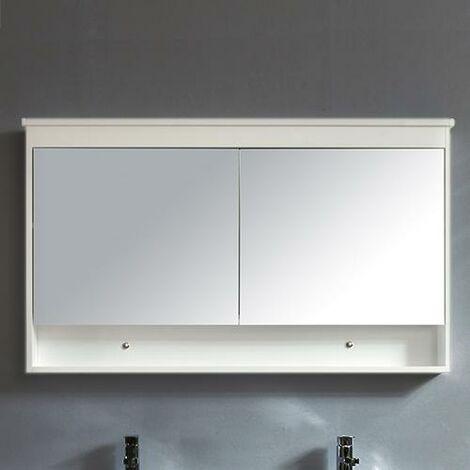 Armario TYPO con espejo 120 cm acabado de fibra de madera blanca