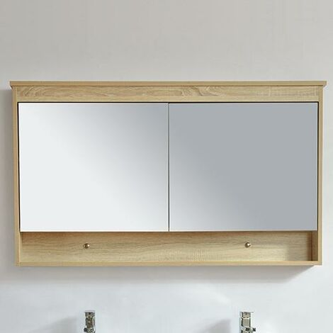 Armario TYPO con espejo 120 cm acabado de fibra de madera roble