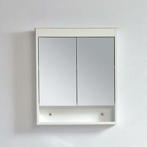 Armario TYPO con espejo 60 cm acabado de fibra de madera blanca