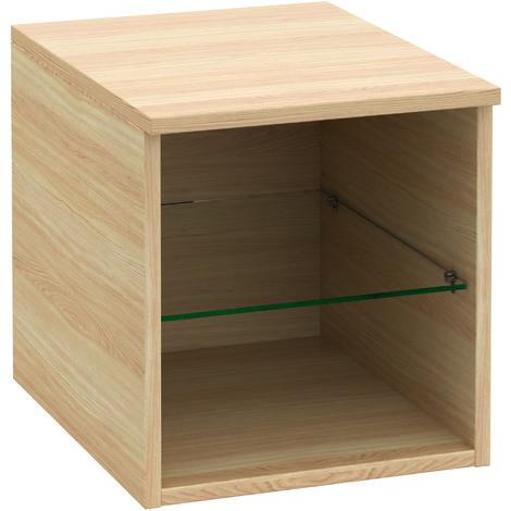 Armario Villeroy & Boch Legato B26201, 400x425x500mm, modelo derecha y central, para lavabo de armario, balda de cristal, color: madera blanca - B26201E8