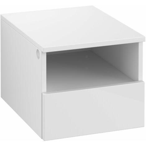 Armario Villeroy & Boch Legato B26301, 400x340x500mm, modelo derecha y central, para lavabo con encimera, extraíble, color: Blanco brillante - B26301DH