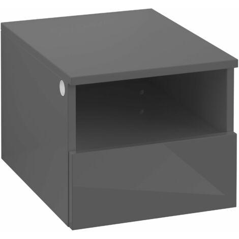 Armario Villeroy & Boch Legato B26301, 400x340x500mm, modelo derecha y central, para lavabo con encimera, extraíble, color: Gris brillante - B26301FP