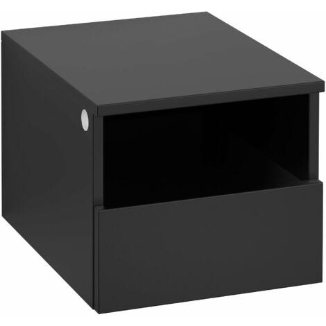Armario Villeroy & Boch Legato B26301, 400x340x500mm, modelo derecha y central, para lavabo con encimera, extraíble, color: Negro Mate Laca - B26301PD