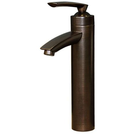 Armatur Retro Bad Waschbecken Einhebel Mixer Waschschale Schwarz Brüniert