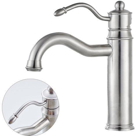 Armatur Waschtisch Wasserhahn Waschbecken Einhebel Edelstahl Sanlingo