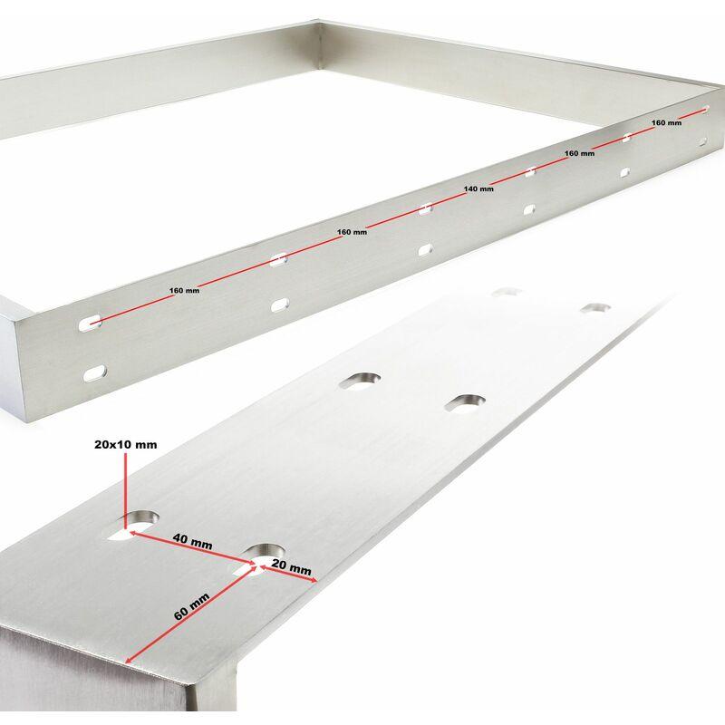 Armature De Table 90x73 Cm Acier Affine V2a Pied De Table