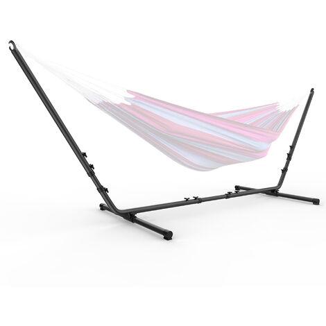 Armature en Acier pour Hamac, Support pour Hamac de Jardin Camping, avec sac de transport, Accessoires: Hamac non inclus