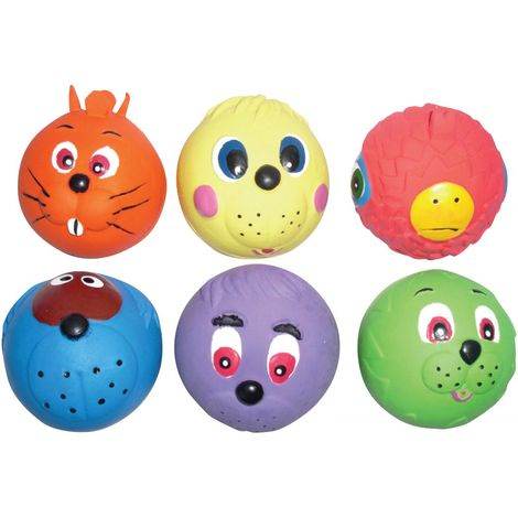 Armitage Good Boy Latex Face Ball Dog Toy (Assorted) - ASRTD (One Size) (May Vary)