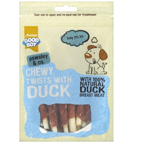 Armitage Good Boy Pawsley Deli Chewy Duck Twists Dog Treat