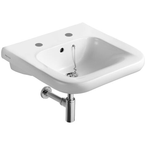 Armitage Shanks Contour 21 Basin with Overflow and Chain Hole 550mm Wide - 2 Tap Hole