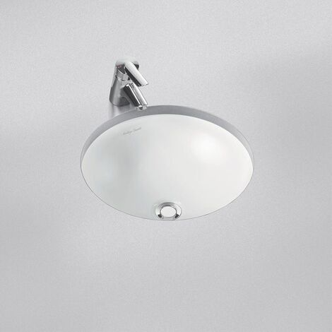 Armitage Shanks Contour 21 Round Under Countertop Basin with Overflow 480mm Wide - 0 Tap Hole