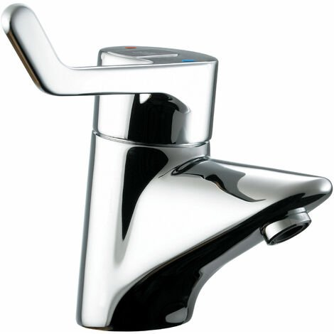 Armitage Shanks Contour 21 Single Lever Sequential Basin Mixer Tap with Flexi Tails - No waste