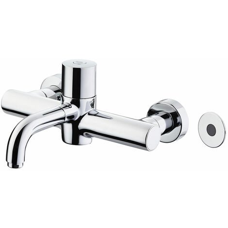 Armitage Shanks Markwik 21 Plus Thermostatic Panel Mounted Basin Mixer Tap with Sensor Fixed Spout