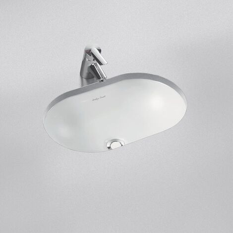 Armitage Shanks Marlow 21 Oval Under Countertop Basin with Overflow 550mm Wide - 0 Tap Hole