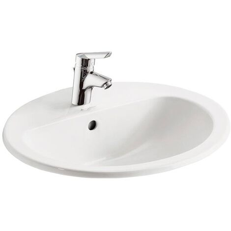 Armitage Shanks Orbit 21 Countertop Basin with Overflow 550mm Wide - 1 Tap Hole