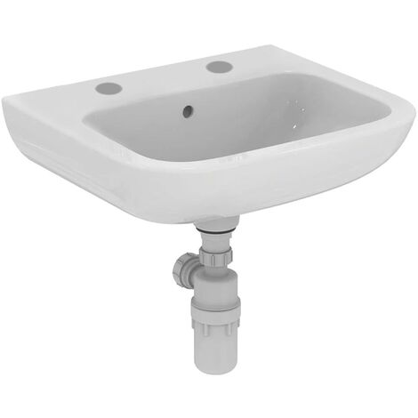 Armitage Shanks Portman 21 Wall Hung Cloakroom Basin with Overflow 500mm Wide - 2 Tap Hole