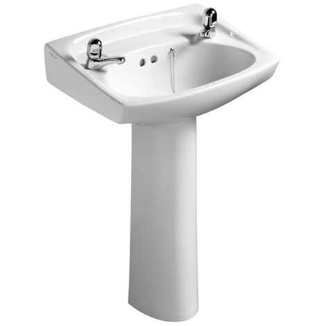 Armitage Shanks Royalex Basin with Full Pedestal 560mm W - 2 Tap Holes