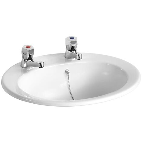 Armitage Shanks Sandringham 21 Inset Countertop Basin 500mm Wide 2 Tap Hole