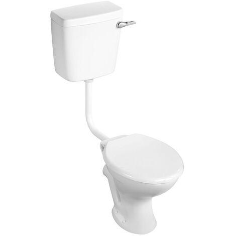 Armitage Shanks Sandringham 21 Low Level Toilet WC Bottom Inlet Cistern - Hardwearing Seat