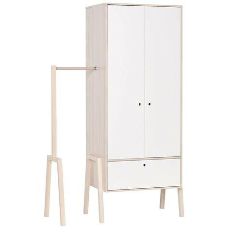 Armoire 2 portes 1 tiroir avec penderie - SPOT - CaliCosy