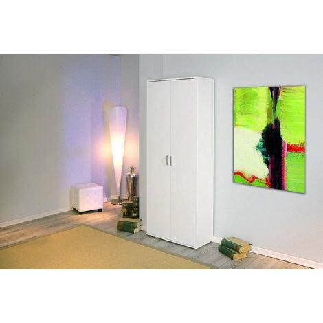 Armoire 2 portes avec étagères en laminé