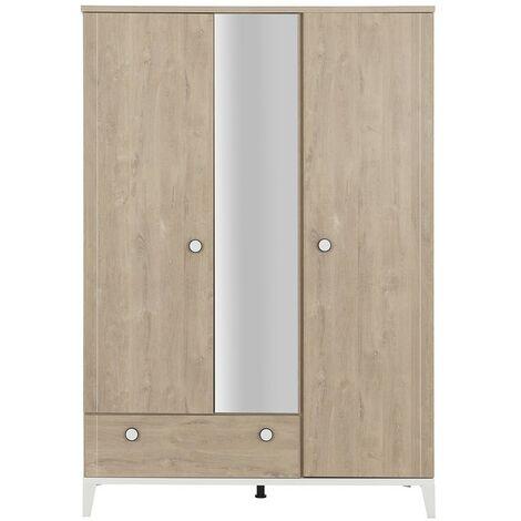 "main image of ""Armoire 3 portes 1 tiroir Marcel - Fabrication Française - Galipette"""
