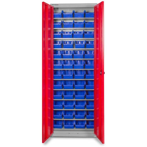 Armoire à 2 portes avec 48 bacs MW-Tools DEBK48D
