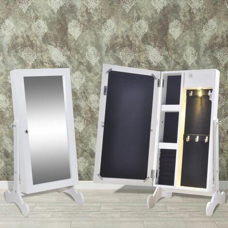 Armoire à bijoux avec miroir et éclairage LED