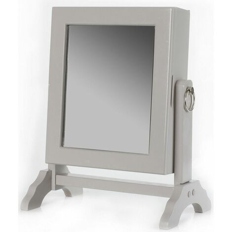 Armoire à bijoux avec miroir inclinable - Rangement 54 bijoux - Couleur aléatoire