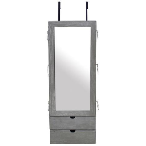 Armoire à Bijoux avec Miroir, Miroir de Rangement, 101 x 35 ...