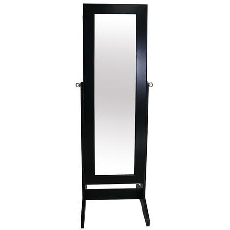 Armoire à Bijoux avec Miroir, Miroir de Rangement, 120 x 38 ...