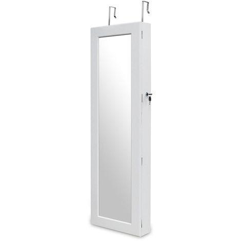Armoire à Bijoux Avec Miroir, Miroir De Rangement, Avec Tiroirs Inférieurs,  ...