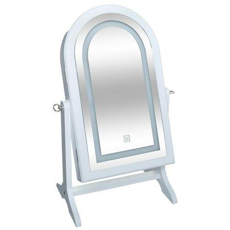 Armoire à bijoux miroir à LED à poser Atmosphera - Blanc