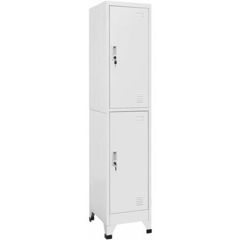 Armoire à casiers avec 2 compartiments 38 x 45 x 180 cm