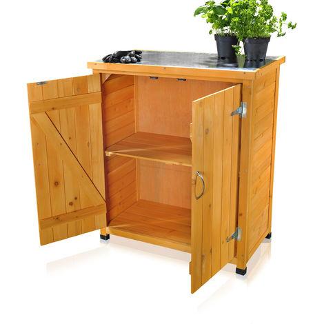 Armoire à équipement Abri de jardin Armoires de cabanon Armoires de cabanon Armoires de jardin + 2 portes