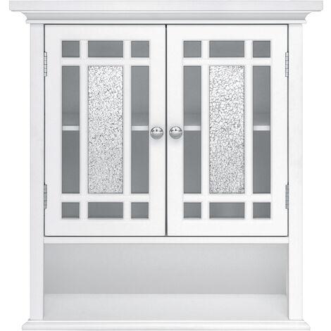 Armoire à pharmacie placard mural de salle de bain en bois blanc Windsor Elegant Home Fashions ELG-527