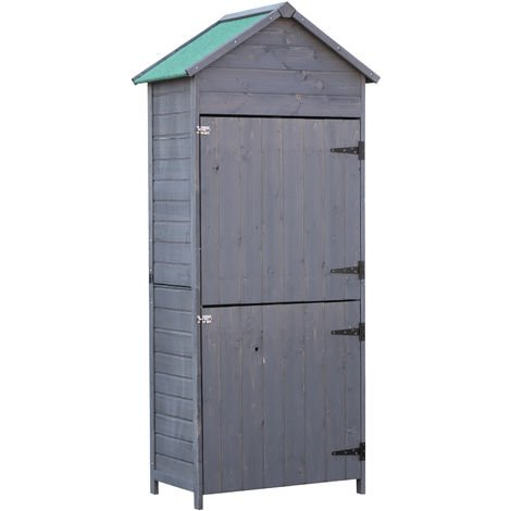 armoire abri de jardin remise pour outils 3 tag res 2. Black Bedroom Furniture Sets. Home Design Ideas