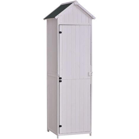 Armoire abri de jardin remise pour outils 3 tag res porte loquet toit pente bitum 68l x 65l x - Toit pour abris de jardin ...