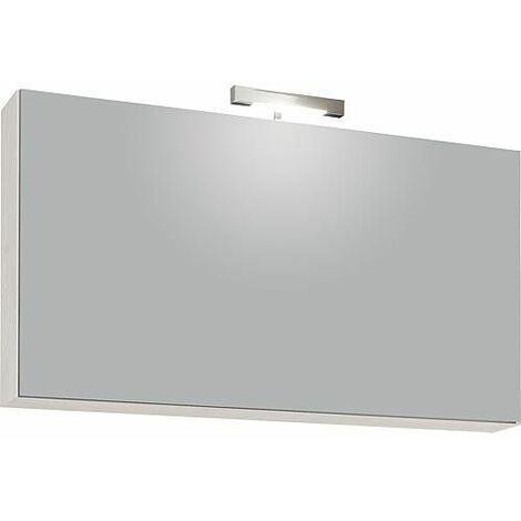 Armoire avec miroir eclairage halogène 60 Watts, 1 porte à trappe 950x500x188mm