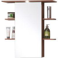 Armoire avec miroir pour salle de bains coloris Merano - Dim: L 65 X H 72 X P 29 cm