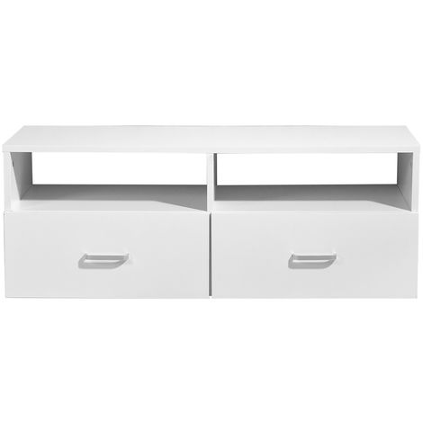 Armoire basse Meuble TV blanc de table Meuble sous-lavabo