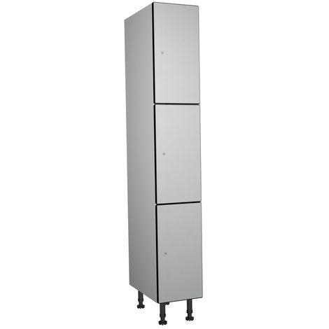 Armoire Casier Phénolique, 3 Portes 1 Colonne, 317x1800x500 mm, Serradure Á Clé,