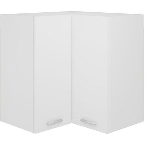 Armoire d'angle suspendue Blanc 57x57x60 cm Aggloméré