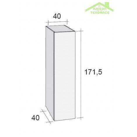 Armoire de douche à 1 porte RIHO BOLOGNA 40x40 H 171,5 cm