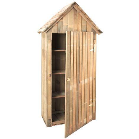 Armoire de jardin en bois 3 étagres - 0,44 m3