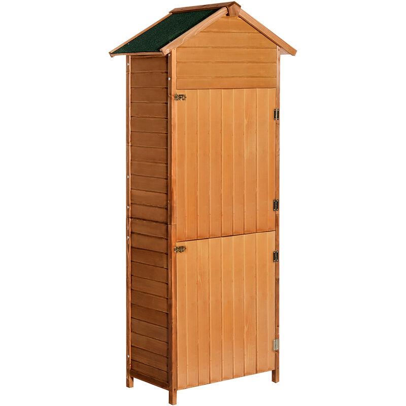 Armoire de jardin remise pour outils 79L x 49l x 190H cm 2 portes 2 ...