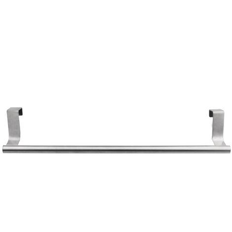 Armoire de porte en acier inoxydable de grande taille (longueur 36 cm) de type suspendu porte-serviettes simple